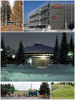 Linnanmaa District of Oulu in Finland