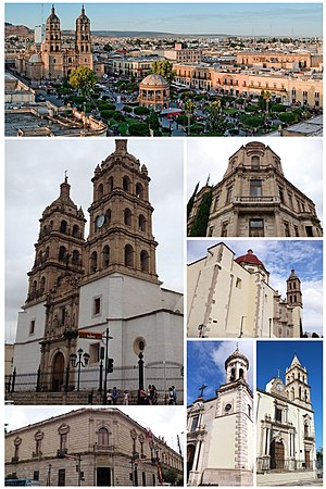 Montage of the city of Victoria de Durango