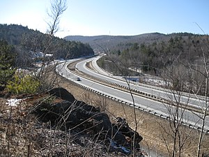 Interstate 89 - New Hampshire Exit 15 (Montcalm), looking south