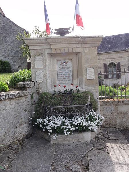 Montchâlons (Aisne) monument aux morts