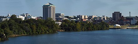 Montgomery, second-largest city and fourth-largest metropolitan area Montgomery Alabama panorama.jpg