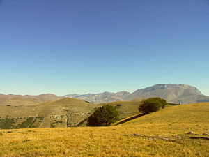 Sibillini Mountains - A summer view of the Monti Sibillini.