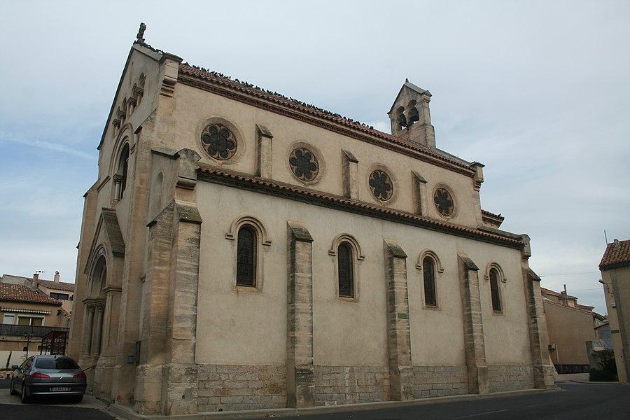 Montredon-des-Corbières - église Saint-Martin - façade latérale