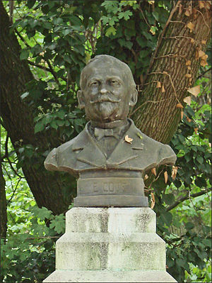 Émile Coué - Memorial bust of Coué (detail), St Mary's Park, Nancy.