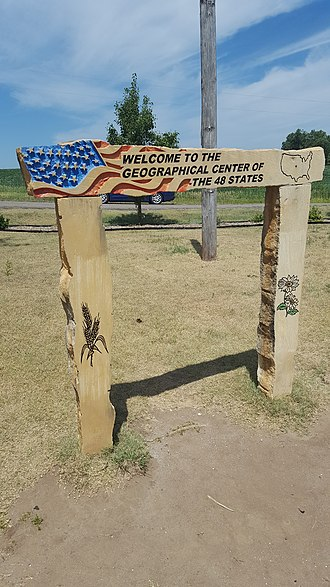 Geographic center of the contiguous United States - An additional monument adjacent to the marker