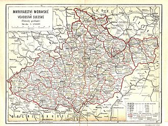 Margraviate of Moravia - Moravian and Austrian Silesian districts, 1897