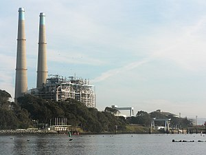 Energy development - The Moss Landing Power Plant in California is a fossil-fuel power station that burns natural gas in a turbine to produce electricity