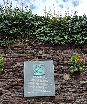 Mary Harris Jones - The Mother Jones Memorial near her birthplace in Cork Ireland.