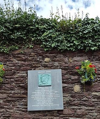 Mary Harris Jones - The Mother Jones Memorial near her birthplace in Cork, Ireland