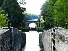 Locks on the Canal de Lalinde