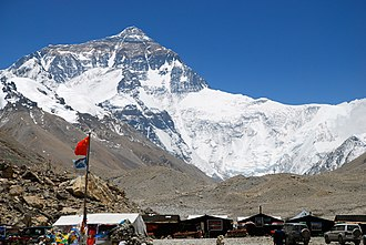 Everest base camps - Mount Everest from the perspective of North Base Camp, Tibet