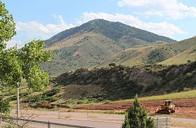 Mount Morrison Colorado viewed from I-70, July 2016.jpg