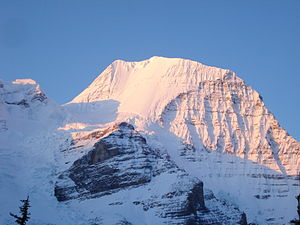 Mount Robson - The North face (left) and Emperor face (right) in winter