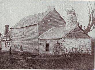 "North Smithfield, Rhode Island - A rare ""stone-ender"" known as the John Mowry, Jr. or Sayles House on Wesquadomeset (Sayles) Hill near Iron Mine Hill and Sayles Hill Roads in North Smithfield, demolished in the 20th century"
