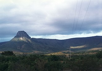 Eastern Highlands - Mt. Mozi is a prominent peak at the Northern end of the range.