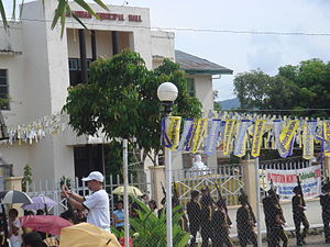 Panganiban, Catanduanes - Town fiesta civic parade in front of the municipal hall