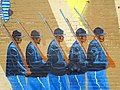 Mural of Black Soldiers in Union Army - Facade of Enslavement and Civil War Museum - Selma - Alabama - USA (34306132901).jpg