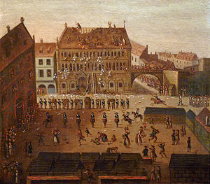 Neubau (Strasbourg) - Image: Musée historique de Strasbourg Sac de l'Hôtel de ville