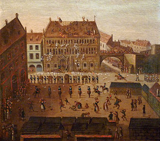 Hôtel de Hanau - Image: Musée historique de Strasbourg Sac de l'Hôtel de ville