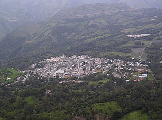 Muzo, Colombia (aerial view)