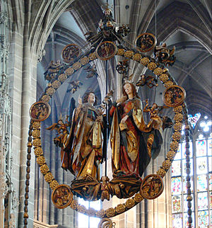 Veit Stoss - Angelic Salutation (1517–1518) in the St. Lorenz Kirche, Nuremberg