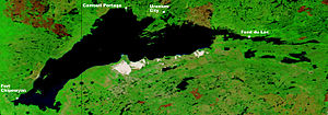 Lake Athabasca - Image: NASA Lake Athabasca