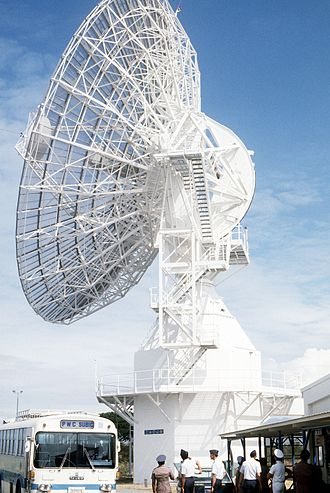 Naval Station San Miguel - A U.S. Air Force Project Space Track dish antenna at San Miguel