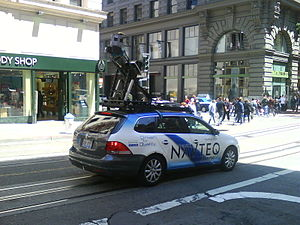 Navteq - A Navteq car surveying on Powell Street, San Francisco