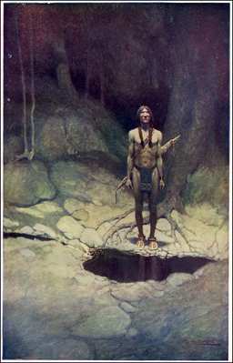 NC Wyeth the Indian in his Solitude 1
