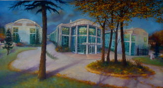 National Physical Laboratory (United Kingdom) - Painting of the laboratory by Lee Campbell, resident artist there in 2009