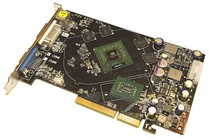 English: NVIDIA GeForce 6600GT AGP with GPU De...