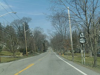 New York State Route 17A - NY 17A and NY 94 heading through the stretch between Warwick and Florida