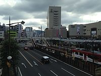 Nagasaki-Ekimae Station and Japan National Route 202 from north side 2.JPG