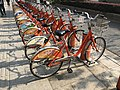 Nanjing Public Bicycles in front of Entrance No.2 of Sanshan Street Station.jpg