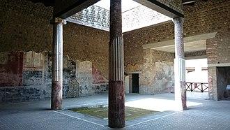 Stabiae - Atrium, Villa San Marco