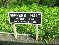 Nappers Halt sign.JPG
