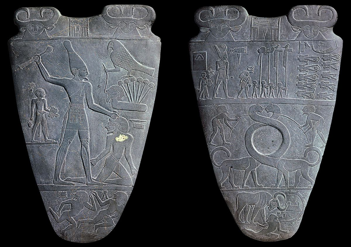 the palette of narmer The narmer palette is significant egyptian archaeological find, dating from about the 31st century bc with some of the earliest hieroglyphic inscriptions ever found.