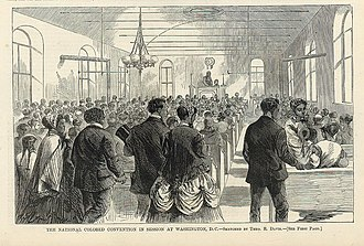 George T. Downing - Image: National Colored Union Convention Harpers Weekly 1869