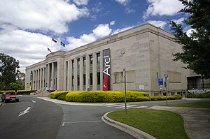 Australian Institute of Anatomy - The National Film and Sound Archive fronts onto McCoy Circuit.