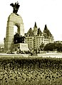 National War Memorial and Château Laurier Ottawa Canada.jpg