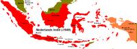 Locatie van Nederlands-Indië