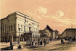National Theatre (Budapest) - The original building at Kerepesi Street