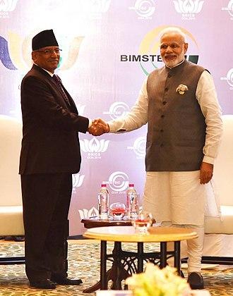 Pushpa Kamal Dahal - Nepal PM Pushpa Kamal Dahal meets Prime Minister Narendra Modi on 17 October 2016