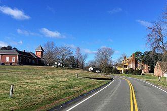 New Kent, Virginia - A view along New Kent Highway