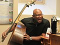 New Orleans May 2018 Jazz at New Orleans Mint Museum Basist Smile.jpg