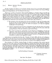 The Proclamation Of The New Territories Of Hong Kong By Colonial Secretary James Stewart Lockhart