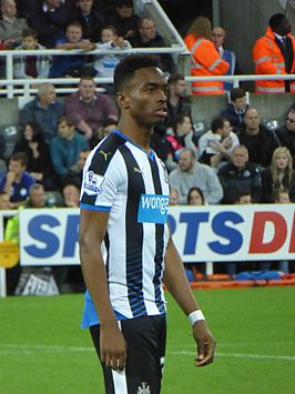 Ivan Toney in het shirt van Newcastle United