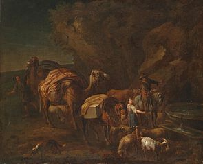 Oriental Landscape with Camel Drivers and Herdsmen