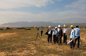 IAEA-Generaldirektor Yukiya Amano am Standort des Kernkraftwerks