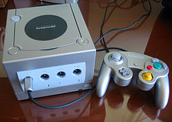 Platinum GameCube with controller